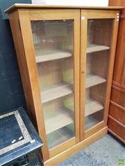 Sale 8566 - Lot 1145 - Timber University Bookcase with Glass Doors (152 x 95 x 36)