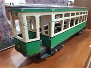 Sale 8872 - Lot 1061 - Timber Model Tram (Summer Hill)