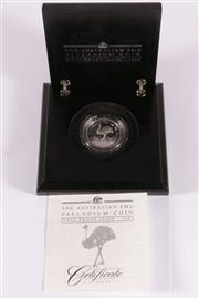 Sale 9035M - Lot 890 - The Australian Emu Palladium 1995 proof Coin, with certificate of authenticity no.0018/2500