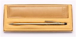 Sale 9107 - Lot 76 - A Cross rolled gold retractable pencil, in box with leather pouch