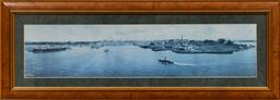 Sale 9165H - Lot 140 - A landscape photographic print of Circular Quay in 1904 Frame size 41x111.5cm