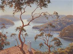 Sale 9170 - Lot 561 - BRIAN BAIGENT (1929 - 2000) Morning Light, Bantry Bay, 1978 oil on board 44 x 59.5 cm (frame: 66 x 81 x 6 cm) signed and dated lower...