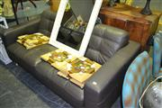 Sale 8013 - Lot 1044 - Brown Leather 2 Seater Lounge