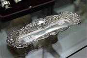 Sale 8116 - Lot 14 - English Hallmarked Sterling Silver Tray (Weight - 71g)