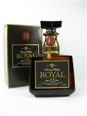 Sale 8329 - Lot 578 - 1x Suntory 12YO Royal Blended Japanese Whisky - 700ml in box