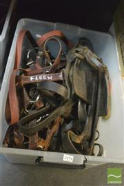 Sale 8407T - Lot 2494 - A Tub of Horse Items incl Blinkers