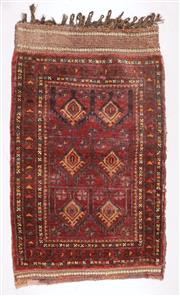 Sale 8445K - Lot 47 - Afghan Tribal Torbah Bag , 99x60cm, Handwoven by desert nomads in the northern mountainous regions of Afghanistan. All wool heavy du...