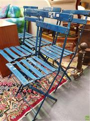 Sale 8566 - Lot 1173 - Set of 5 Folding Cafe Chairs