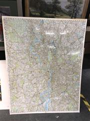 Sale 8811 - Lot 2085 - Mounted Map of London
