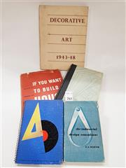 Sale 8822B - Lot 763 - A small quantity of books on design & Decorative art inl. W.D Teague - Design this day; review copy with others, with annotations...