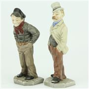 Sale 8279 - Lot 87 - Royal Worcester Down & Out Figural Menu Holders by James Hadley