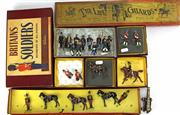 Sale 8330T - Lot 78 - Assorted Lead Soldiers and Boxes; Vintage Britains Soldiers Regiments of All Nations 11th Hussars (no. 182) part set in box, 4 x m...