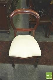 Sale 8368 - Lot 1095 - Set of Six Balloon Back Chairs with Cream Upholstered Seats & Seat Covers