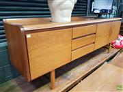 Sale 8607 - Lot 1031 - Very Good Quality White and Newton Teak Sideboard (H: 76 W: 208 D: 46cm)