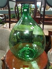 Sale 8601 - Lot 1017 - Large Green Glass Bottle