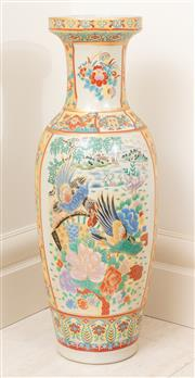 Sale 8868H - Lot 14 - A decorative Chinese baluster vase decorated with birds in a garden landscape, Height 61cm