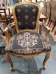 Sale 8904 - Lot 1048 - Gilt French Style Armchair