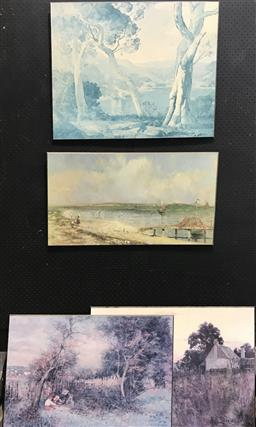Sale 9106 - Lot 2072 - Collection of Mounted Prints incl McCubbin and Rees (4)