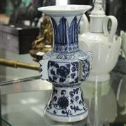 Sale 8300 - Lot 54 - Chinese Blue & White Vase (Height - 24cm)