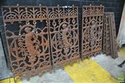 Sale 8326 - Lot 1400 - Collection of 4 Cast Iron Fret Work Panels w Collection of Smaller Examples