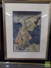 Sale 8407T - Lot 2072 - Artist Unknown (Japanese School) - Untitled (Bracing the Storm) 35 x 23.5cm
