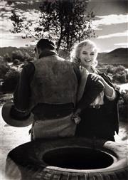 Sale 8545A - Lot 5029 - Eve Arnold (1912 - 2012) - Marilyn Monroe with Clarke Gable on the set of The Misfits, 1960 42.5 x 30.5cm (mount size: 72 x 54cm)