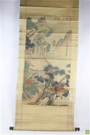 Sale 8563 - Lot 296 - Scroll With Mountain Scene