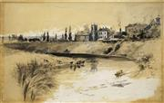 Sale 8583A - Lot 5026 - Albert Henry Fullwood (1863 - 1930) - West Maitland 26.5 x 42cm