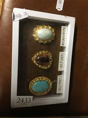 Sale 8702 - Lot 2433 - 4 Gem Brooches