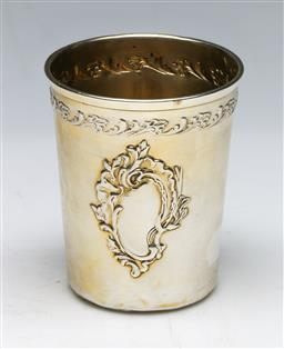 Sale 9138 - Lot 181 - Russian Silver Cup With a Vienna Mark (H: 8cm) (Wt 62g)