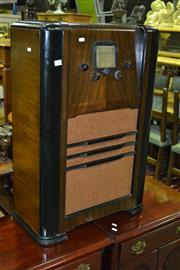 Sale 8093 - Lot 1416 - Deco Timber Cased AWA Radiogram