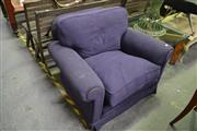 Sale 8127 - Lot 882 - Navy Club Chair With Downfilled Cushion