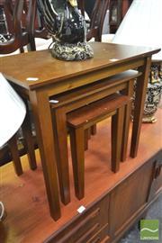 Sale 8277 - Lot 1040 - Timber Nest of Three Tables