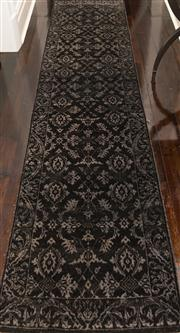 Sale 8298 - Lot 2 - A Hali Runner in Black and Gray Tones. 334 x 80cm approximately.