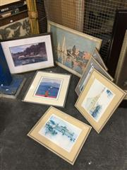 Sale 8779 - Lot 2091 - 7 Framed Decorative Prints, various sizes