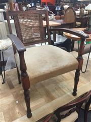 Sale 8839 - Lot 1301 - Timber Armchair With Rattan Back