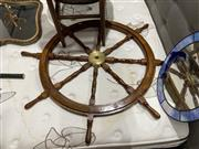 Sale 8876 - Lot 1061 - Large Ships Helm with Brass Hub