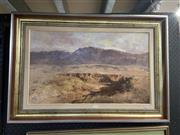Sale 9016 - Lot 2039 - Robert Simpson Erosion in The Flinder Ranges, 1985, oil on board, 55 x 81 cm, signed lower right