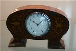Sale 7914 - Lot 47 - French Inlaid Timber Mantle Clock