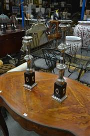 Sale 8159 - Lot 1018 - Graduated Pair Of Candle Sticks