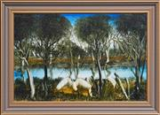 Sale 8309 - Lot 556 - Kevin Charles (Pro) Hart (1928 - 2006) - Swamp Birds 30 x 45.5cm