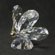 Sale 8412B - Lot 76 - Swarovski Crystal Butterfly with Box - Height 5.1cm
