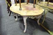 Sale 8515 - Lot 1028 - Marble Top Coffee Table