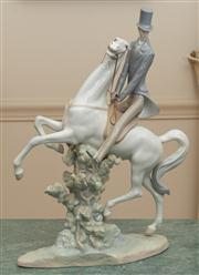 Sale 8630A - Lot 74 - A Lladro figure of a man on a horse, H 51cm