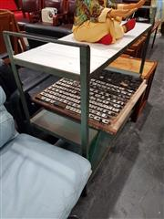 Sale 8723 - Lot 1070 - Vintage 3 Tier Metal Industrial Trolley