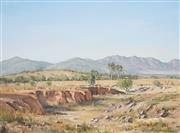 Sale 8813 - Lot 501 - Les Graham (1942 - ) - Foothills of Flinders Ranges, South Australia 45 x 60.5cm