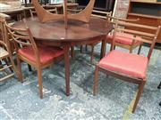 Sale 8872 - Lot 1096 - Teak Table & Set of Six G-Plan Chairs