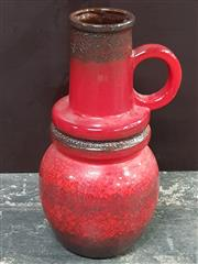 Sale 8908 - Lot 1004 - West German Lava Glaze Vase (Height: 63cm)