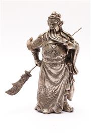Sale 9027D - Lot 780 - A Chinese Metal Figure of A Warrior (H 24cm)