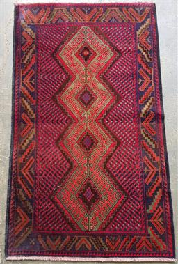 Sale 9151 - Lot 1360 - Handknotted pure wool Persian baluchi (160x 90cm)
